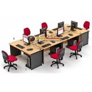 High Point One - Set Meja Kantor Beech Workstation-4