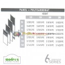 Modera 6 Workstation Series Panel + Polycarbonat