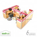 Modera 6 Workstation Series 4 Set Orang-2