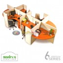 Modera 6 Workstation Series 4 Set Orang-3