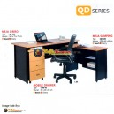 Set Meja Kantor (Mobile Drawer, Meja Samping, Meja 1 Biro) - Lunar QD Series