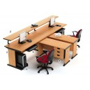 High Point One - Meja Kantor Set Beech Workstation-4