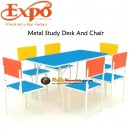 Expo Metal Study Desk And Chair 2
